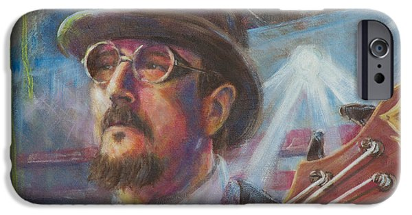 Flying Frog iPhone Cases - Les Claypool iPhone Case by Josh Hertzenberg