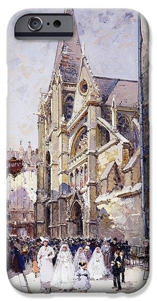 Lieven iPhone Cases - Les Communianates a Paris iPhone Case by Eugene Galien-Laloue