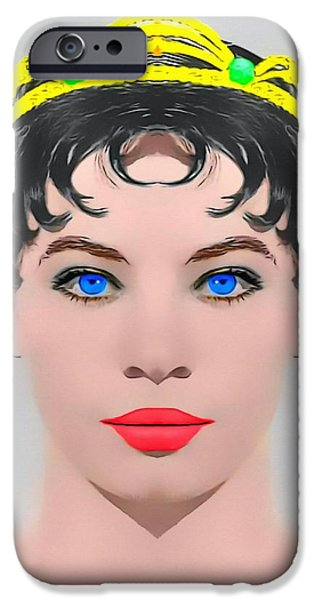 Gray Hair Mixed Media iPhone Cases - Leslie Caron alias in The Glass Slipper iPhone Case by Art Cinema Gallery