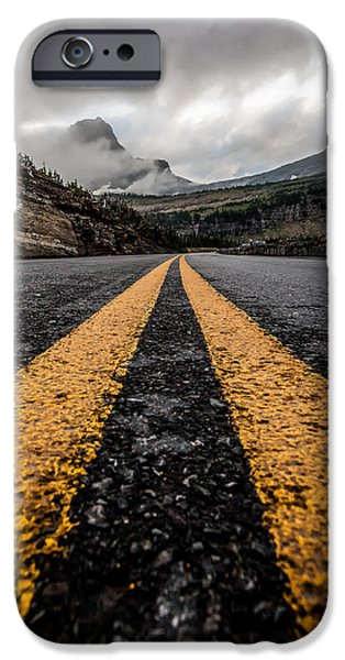 Asphalt iPhone Cases - Less Traveled iPhone Case by Aaron Aldrich