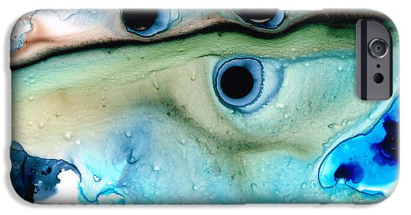 Online-art Paintings iPhone Cases - Less Traveled iPhone Case by Sharon Cummings