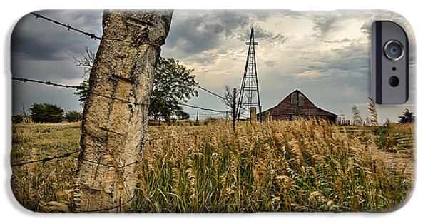 Old Barns iPhone Cases - Less Traveled iPhone Case by Thomas Zimmerman