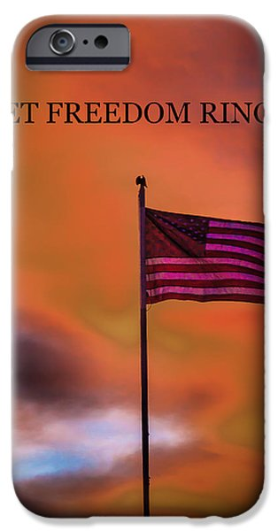 Betsy Ross iPhone Cases - Let Freedom Ring iPhone Case by Robert Bales