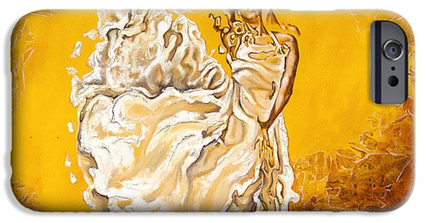 Human Figure iPhone Cases - Let it be peace in my soul iPhone Case by Karina Llergo Salto