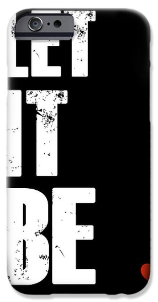 Film Mixed Media iPhone Cases - Let It Be Poster iPhone Case by Naxart Studio
