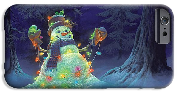 Michael Paintings iPhone Cases - Let it Glow iPhone Case by Michael Humphries