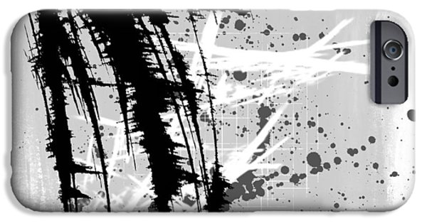 Abstract Digital Mixed Media iPhone Cases - Let It Go iPhone Case by Melissa Smith