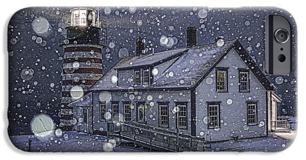 Recently Sold -  - Snowy iPhone Cases - Let It Snow Let It Snow Let It Snow iPhone Case by Marty Saccone