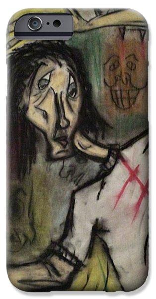 Creepy Pastels iPhone Cases - Let Me live. iPhone Case by Albert Mendez