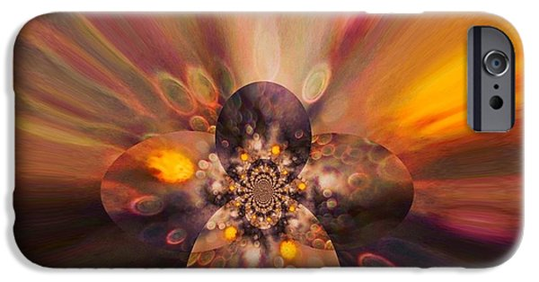 Inner Self Digital Art iPhone Cases - Let Self-Love Enhance Your Inner Beauty iPhone Case by Tanya Levy