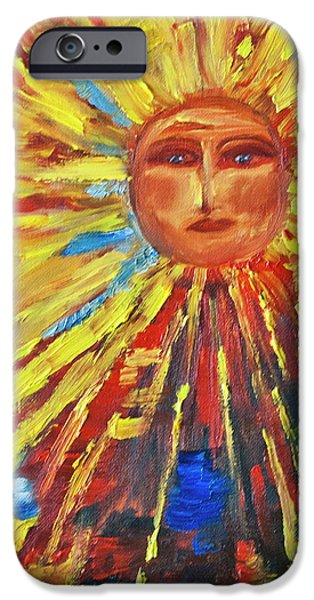 Sun Rays Paintings iPhone Cases - Let the Sun Shine iPhone Case by Debbie Weibler