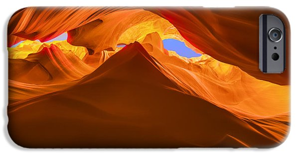 Nation iPhone Cases - Let the Sunshine In the Canyons iPhone Case by Angela A Stanton