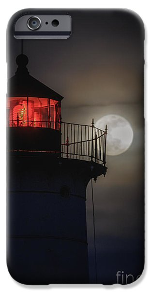 Cape Neddick Lighthouse iPhone Cases - Let the Tetrad Begin iPhone Case by Scott Thorp