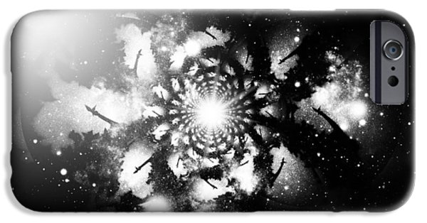 Night Angel iPhone Cases - Let There Be Angels IV iPhone Case by Aurelio Zucco