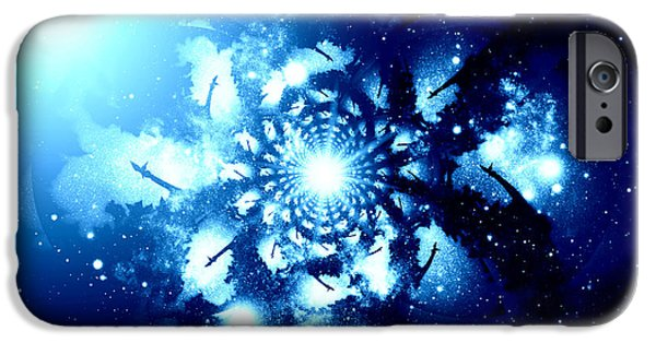 Night Angel iPhone Cases - Let There Be Angels VII iPhone Case by Aurelio Zucco