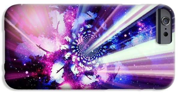 Night Angel iPhone Cases - Let There Be Angels VIII iPhone Case by Aurelio Zucco