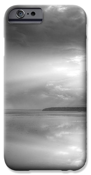 Let There Be Light Black and White iPhone Case by JC Findley
