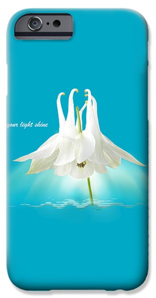 Let Your Light Shine iPhone Case by Gill Billington