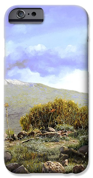 l'Etna  iPhone Case by Guido Borelli