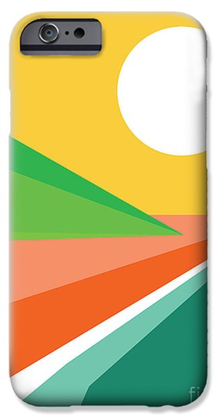 Geometric Shape iPhone Cases - Lets all go to the beach iPhone Case by Budi Kwan
