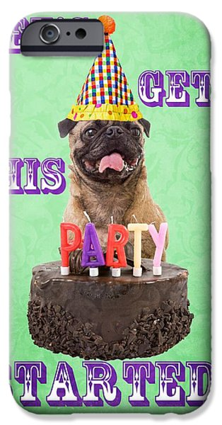 Party iPhone Cases - Lets Get This Party Started iPhone Case by Edward Fielding