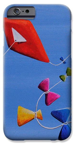 Kite iPhone Cases - Lets Go Fly A Kite iPhone Case by Cindy Thornton