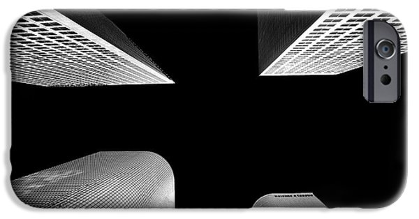 Black And White Photograph iPhone Cases - Lets Meet In The Middle iPhone Case by Az Jackson