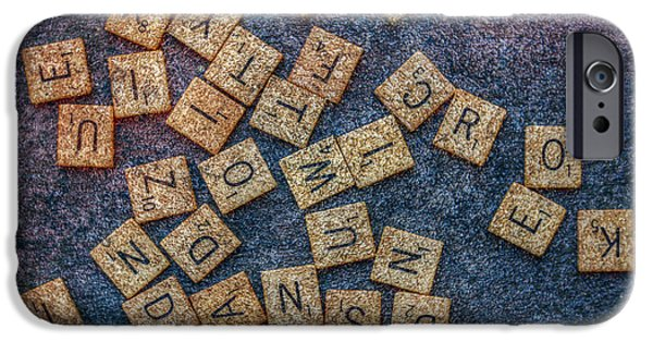 Recently Sold -  - Board iPhone Cases - Lets Play Scrabble iPhone Case by Randy Steele