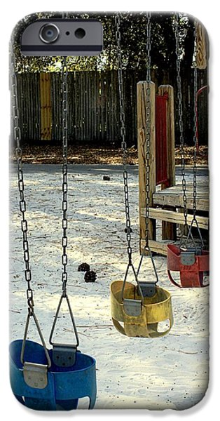 Missing Child iPhone Cases - Lets Swing iPhone Case by Debra Forand