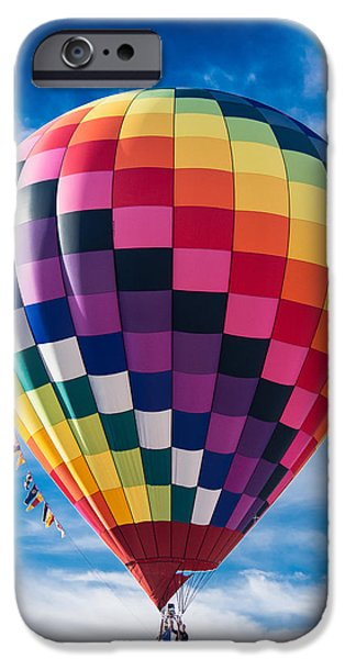 Hot Air Balloon iPhone Cases - Lets Take A Ride iPhone Case by Parker Cunningham