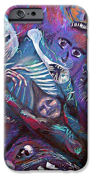 Creepy Pastels iPhone Cases - Letting Out the Scary iPhone Case by David Wallace