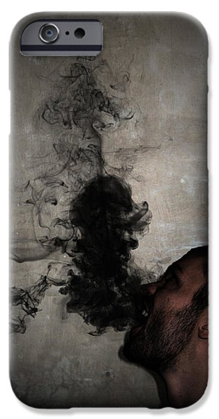 Crazy iPhone Cases - Letting the darkness out iPhone Case by Nicklas Gustafsson
