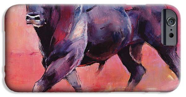 Sports Paintings iPhone Cases - Levantado iPhone Case by Mark Adlington