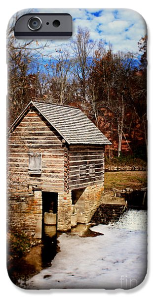 Levi iPhone Cases - Levi Jackson Park Water Mill iPhone Case by Stephanie Frey