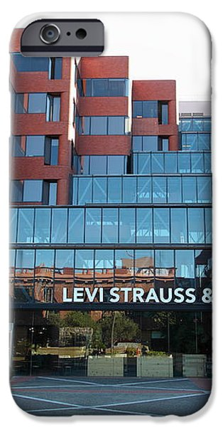 Levi Strauss and Company Plaza At The San Francisco Embarcadero 5D26202 iPhone Case by Wingsdomain Art and Photography