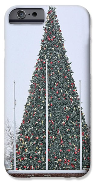 Levis iPhone Cases - Levis Commons Christmas Tree iPhone Case by Jack Schultz