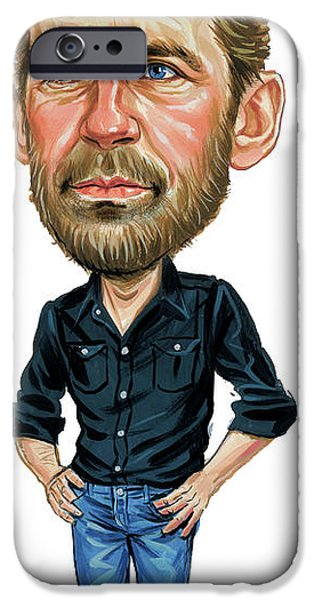Celebrities Art iPhone Cases - Levon Helm iPhone Case by Art