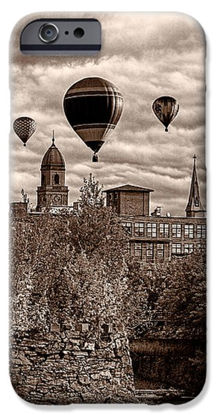 Lewiston Maine Hot Air Balloons iPhone Case by Bob Orsillo