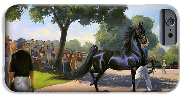 American Saddlebred iPhone Cases - Lexington Stallion Tour iPhone Case by Jeanne Newton Schoborg
