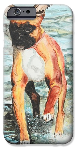 Young Paintings iPhone Cases - Leyla iPhone Case by Jeanne Fischer