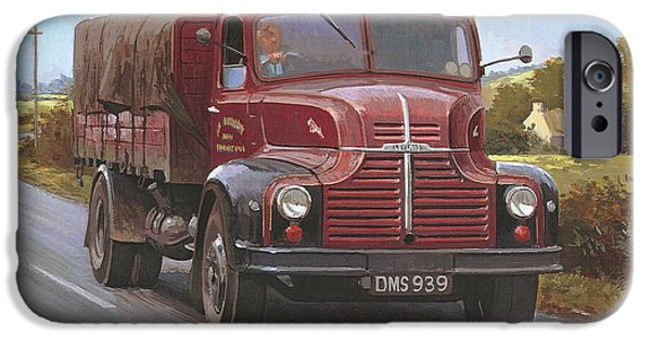 Comets iPhone Cases - Leyland Comet 1948 iPhone Case by Mike  Jeffries