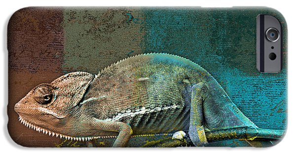 Chameleon iPhone Cases - Lezardin - j131131149v5bcr iPhone Case by Variance Collections