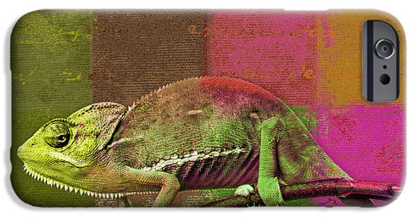 Chameleon iPhone Cases - Lezardin - j131131149v5bgrp iPhone Case by Variance Collections