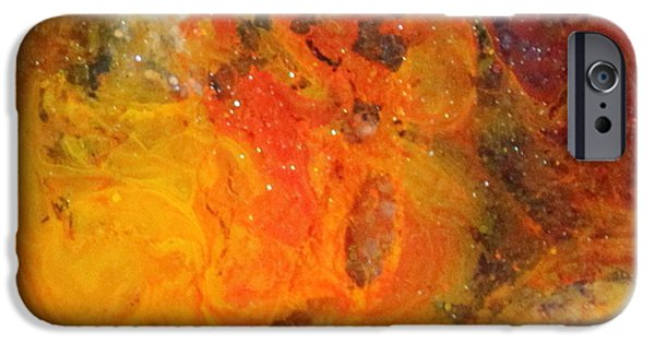 Splashy Paintings iPhone Cases - Lg1001 iPhone Case by Kathleen Fowler