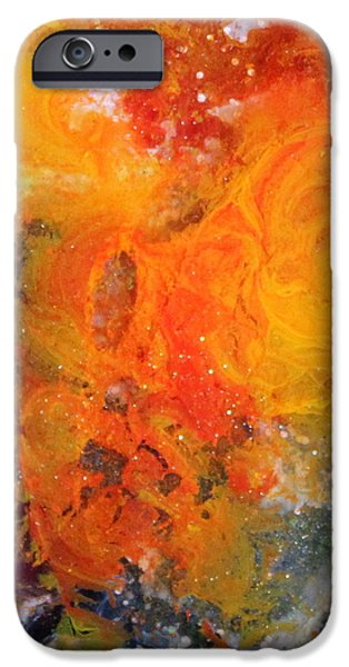 Splashy Paintings iPhone Cases - Lg1003 iPhone Case by Kathleen Fowler
