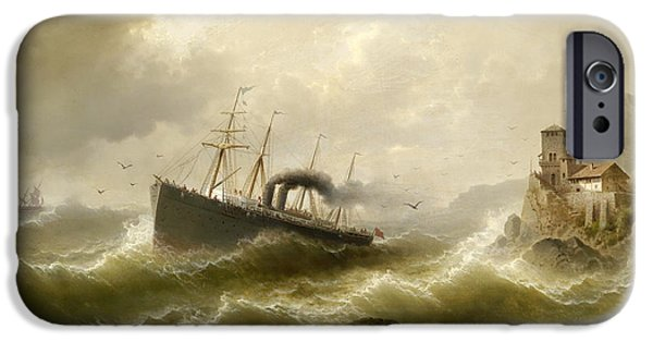 North Sea iPhone Cases - Lhootse station on the North Sea iPhone Case by Albert Rieger