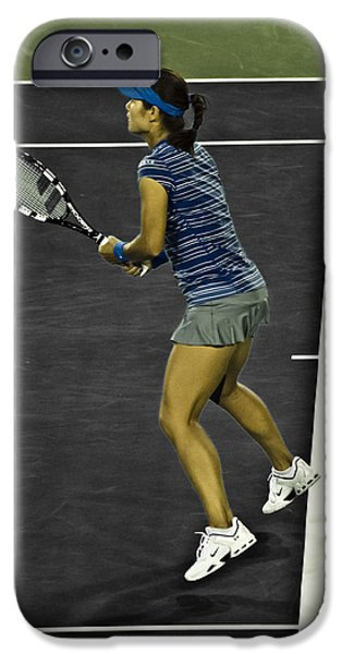 Wta iPhone Cases - Li Na iPhone Case by Rexford L Powell