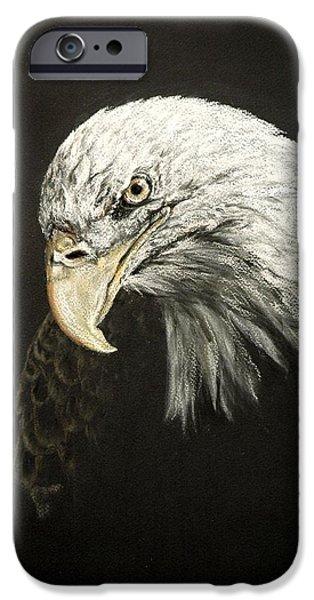 Eagle Pastels iPhone Cases - Lia iPhone Case by Pat Morris