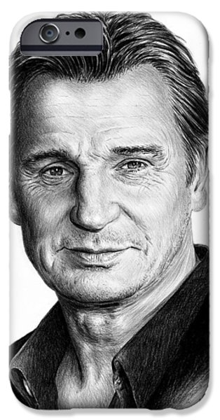 2000s iPhone Cases - Liam Neeson iPhone Case by Andrew Read