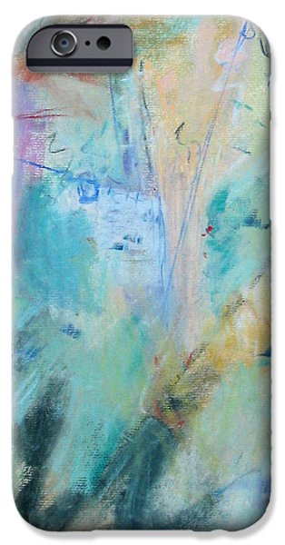 Abstract Expressionism Pastels iPhone Cases - Liberation iPhone Case by Studio Tolere